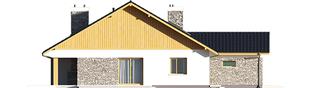 Projekt domu Klementynka II G1 - elewacja lewa