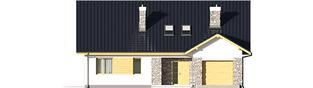 Projekt domu Klementynka II G1 - elewacja frontowa