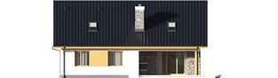Projekt domu Klementynka II G1 - elewacja tylna