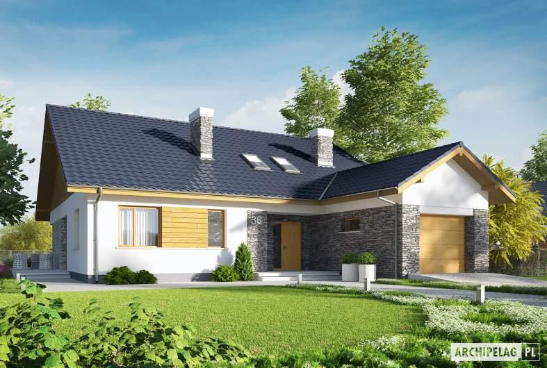 Projekt domu Klementynka II G1 - wizualizacja frontowa