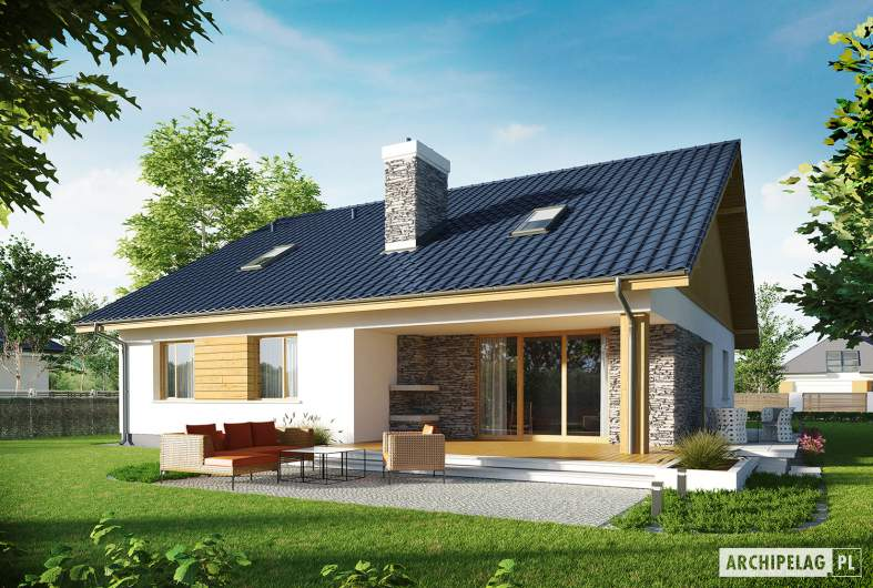 Projekt domu Klementynka II G1 - wizualizacja ogrodowa