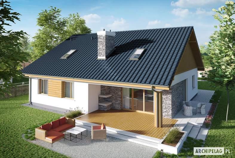 Projekt domu Klementynka II G1 - widok z góry