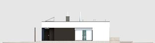 Projekt domu Mini 4 G1 MODERN - elewacja lewa