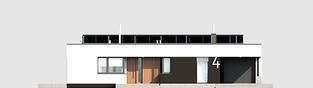 Projekt domu Mini 4 G1 MODERN - elewacja frontowa