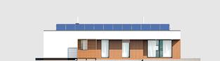 Projekt domu Mini 4 G1 MODERN - elewacja tylna