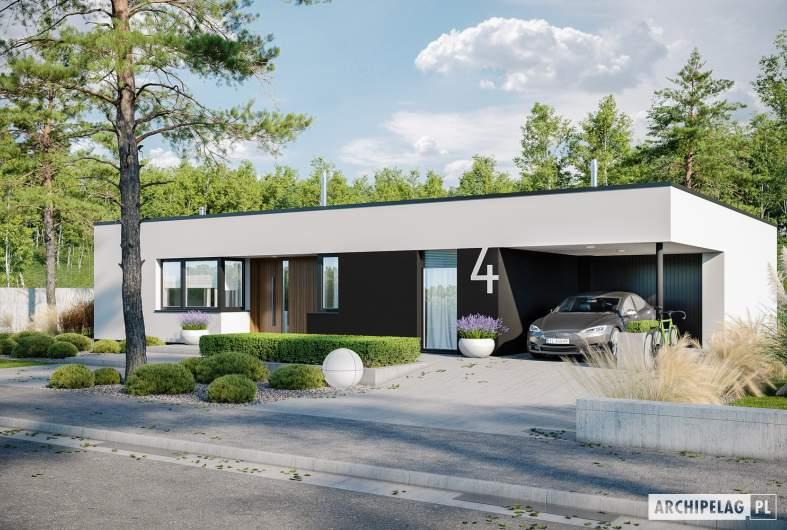 Projekt domu Mini 4 G1 MODERN - wizualizacja frontowa
