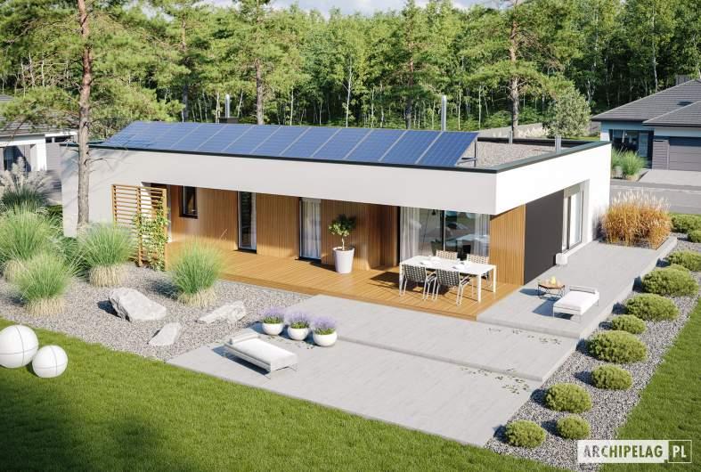 Projekt domu Mini 4 G1 MODERN - widok z góry