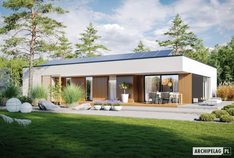 Projekt domu Mini 4 G1 MODERN - wizualizacja ogrodowa