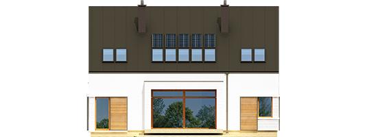 Ex 9 B - Projekt domu EX 9 G1 (wersja B) - elewacja tylna