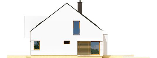 Ex 9 B - Projekt domu EX 9 G1 (wersja B) - elewacja prawa