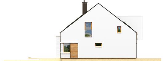 Ex 9 B - Projekt domu EX 9 G1 (wersja B) - elewacja lewa