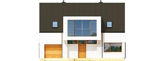 Ex 9 B - Projekt domu EX 9 G1 (wersja B) - elewacja frontowa