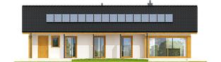 Projekt domu Eryk II G1 (30 stopni) - elewacja tylna