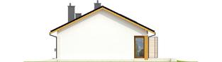 Projekt domu Eryk II G1 (30 stopni) - elewacja prawa