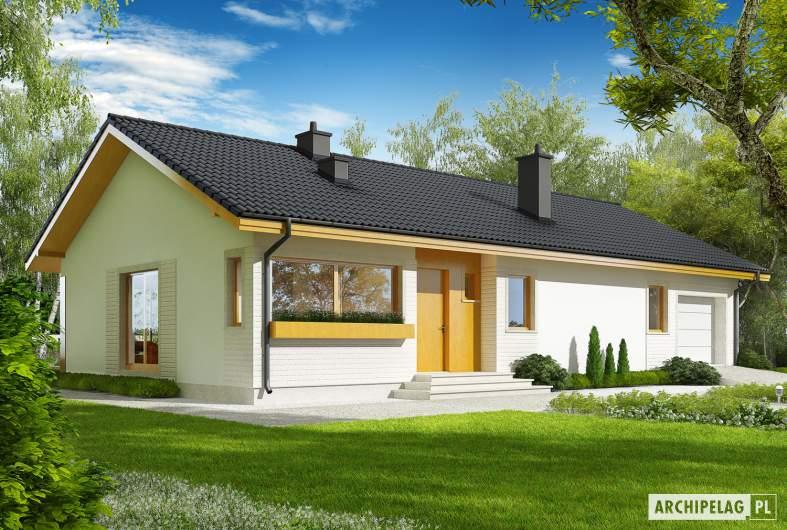 Projekt domu Eryk II G1 (30 stopni) - Projekty domów ARCHIPELAG - Eryk II G1 (30 stopni) - wizualizacja frontowa
