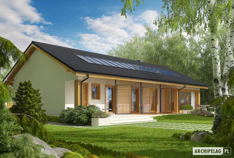 Projekt domu Eryk II G1 (30 stopni) - Projekty domów ARCHIPELAG - Eryk II G1 (30 stopni) - wizualizacja ogrodowa