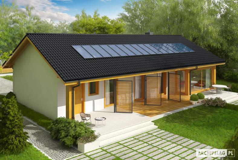 Projekt domu Eryk II G1 (30 stopni) - Projekty domów ARCHIPELAG - Eryk II G1 (30 stopni) - widok z góry