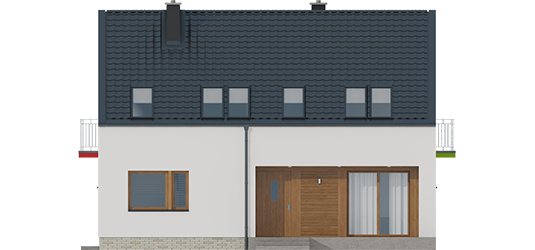 E2 ECONOMIC A - Projekt domu E11 II ECONOMIC - elewacja frontowa