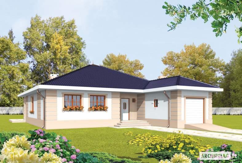 Projekt domu Irma II G1 - wizualizacja frontowa