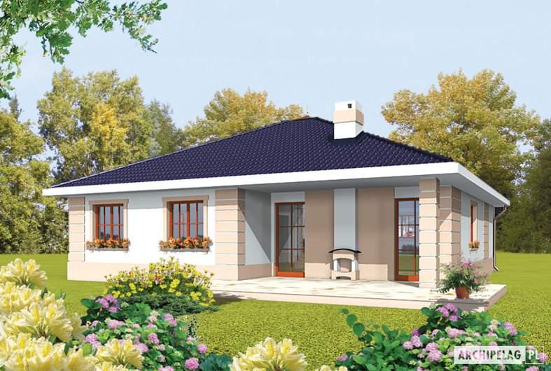 Projekt domu Irma II G1 - wizualizacja ogrodowa