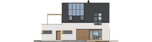 Projekt domu Katrina III G1 ENERGO PLUS  - elewacja tylna