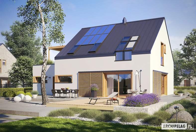 Projekt domu Katrina III G1 ENERGO PLUS - wizualizacja ogrodowa