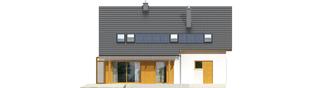 Projekt domu Pablo G1 - elewacja tylna