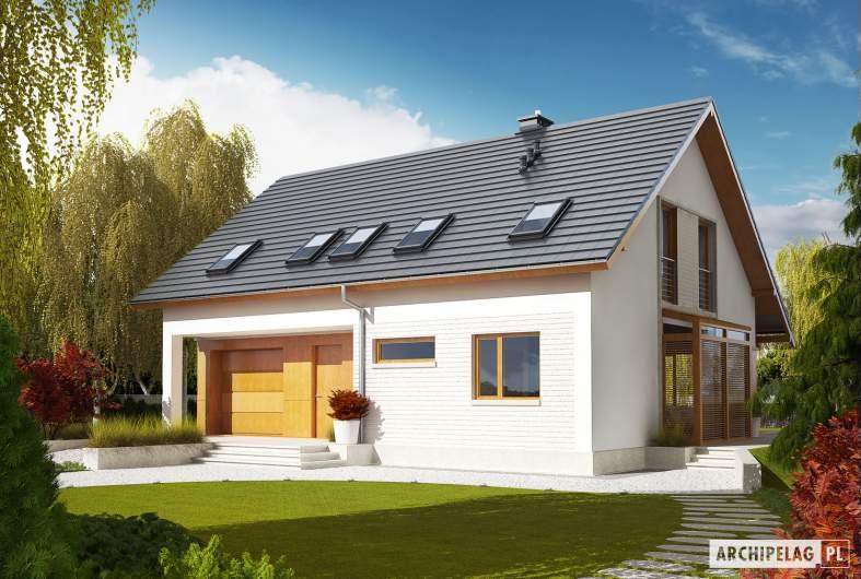 Projekt domu Pablo G1 - Projekty domów ARCHIPELAG - Pablo G1 - wizualizacja frontowa