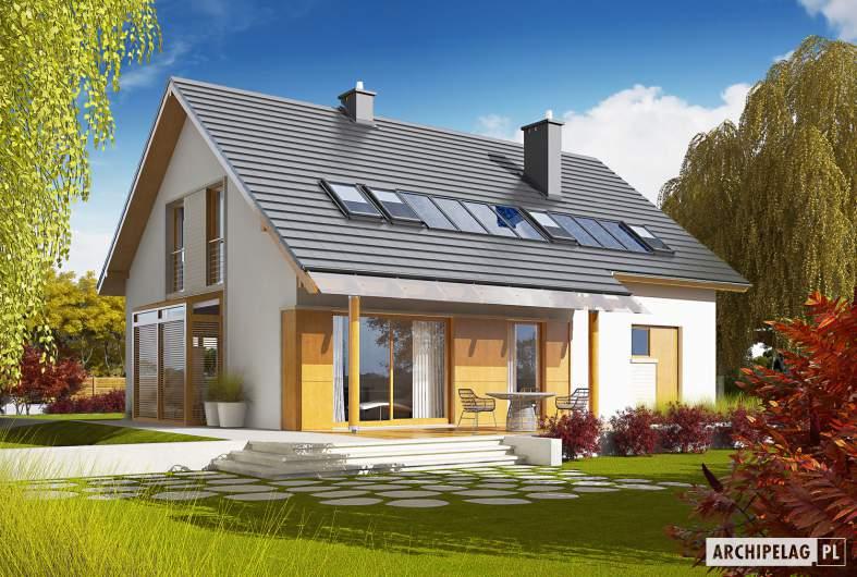 Projekt domu Pablo G1 - Projekty domów ARCHIPELAG - Pablo G1 - wizualizacja ogrodowa