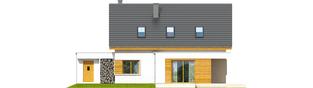Projekt domu Patryk G1 - elewacja tylna