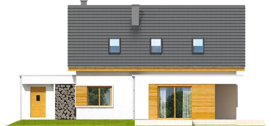 Patrikas G1 - Projekt domu z poddaszem Patryk G2 - elewacja tylna