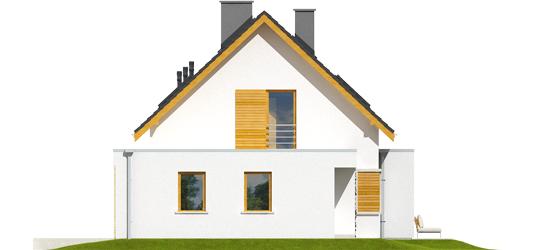 Patrikas G1 - Projekt domu z poddaszem Patryk G2 - elewacja prawa