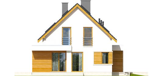 Patrikas G1 - Projekt domu z poddaszem Patryk G2 - elewacja lewa