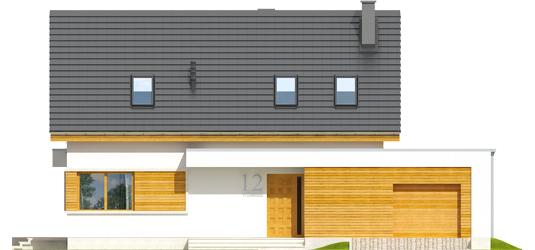 Patrikas G1 - Projekt domu z poddaszem Patryk G2 - elewacja frontowa