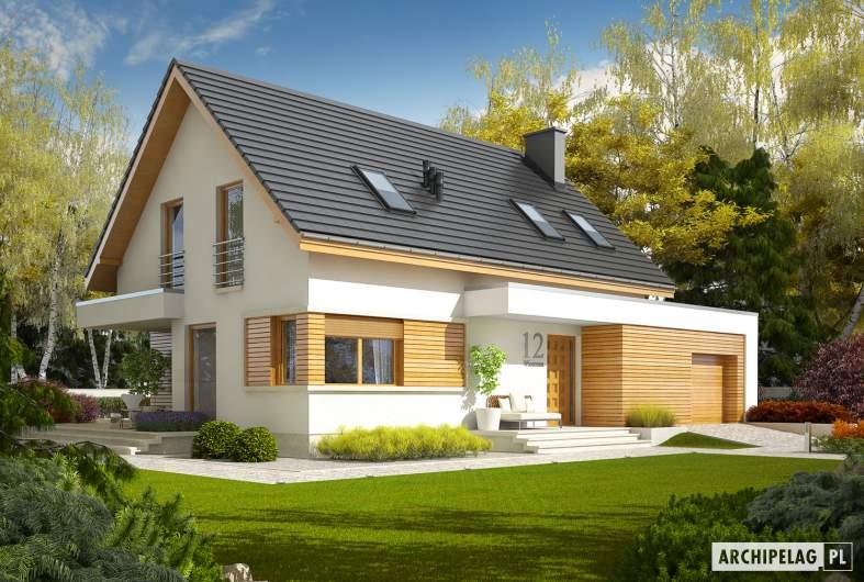 Projekt domu z poddaszem Patryk G2 - wizualizacja frontowa