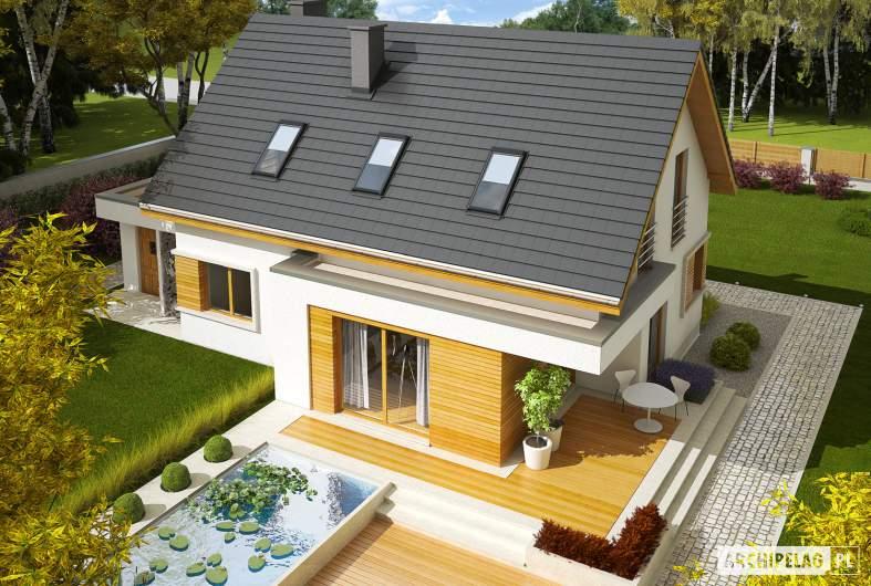 Projekt domu z poddaszem Patryk G2 - widok z góry