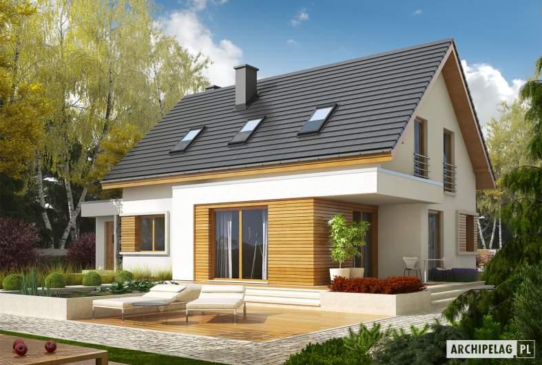 Projekt domu z poddaszem Patryk G2 - wizualizacja ogrodowa