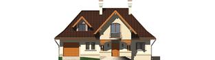 Projekt domu Amelia G1 - elewacja frontowa