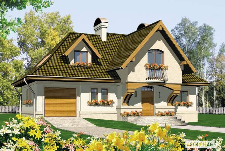 Projekt domu Amelia G1 - wizualizacja frontowa