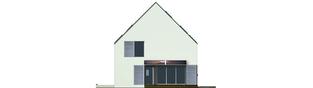 Projekt domu Lumina - elewacja tylna
