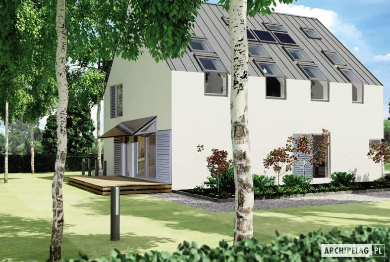 Projekt domu Lumina - wizualizacja ogrodowa