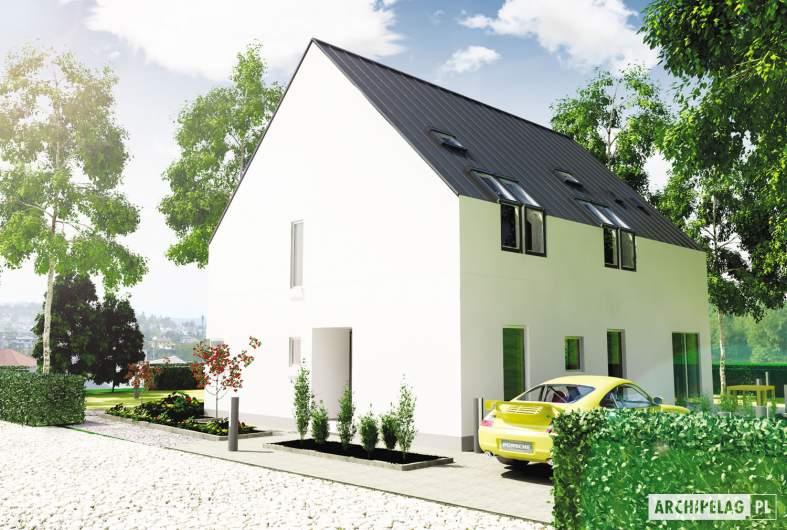 Projekt domu Lumina - wizualizacja frontowa