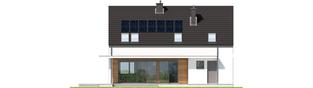 Projekt domu E4 G1 ECONOMIC (wersja A) - elewacja tylna