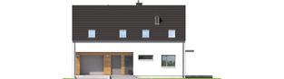 Projekt domu E4 G1 ECONOMIC (wersja A) - elewacja frontowa