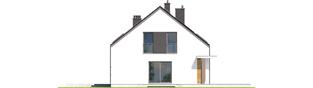Projekt domu E4 G1 ECONOMIC (wersja A) - elewacja prawa