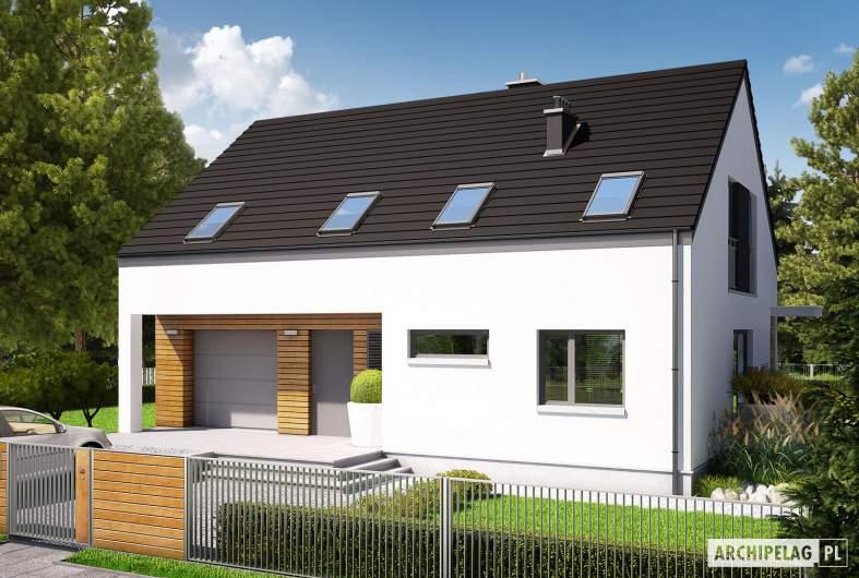Projekt domu E4 G1 (wersja A) ECONOMIC - wizualizacja frontowa