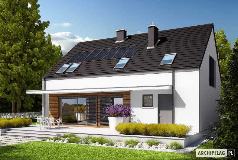 Projekt domu E4 G1 (wersja A) ECONOMIC - wizualizacja ogrodowa