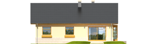Projekt domu Erin - elewacja tylna