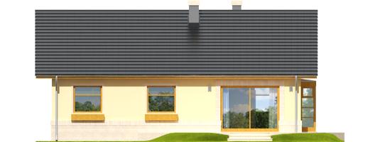 Erin - Projekty domów ARCHIPELAG - Erin - elewacja tylna