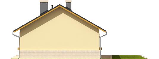 Erin - Projekty domów ARCHIPELAG - Erin - elewacja prawa